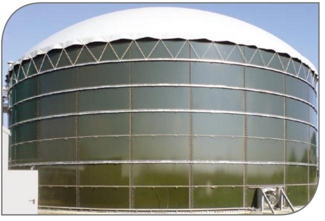 модульный резервуар с круглой крышей